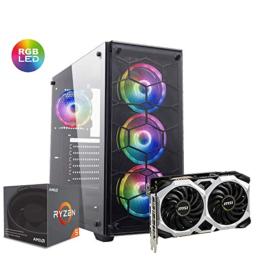 Pc gaming Ryzen 5 2600x 4.2Ghz / Msi Gtx 1660 Ventus XS OC 6Gb Ddr6/ Ram Ddr4 16gb 3200mhz/ Ssd M.2 120gb + Hdd 1tb / Windows 10/ Computer da gaming assemblato/Pc gaming Ryzen 5/Pc desktop gaming
