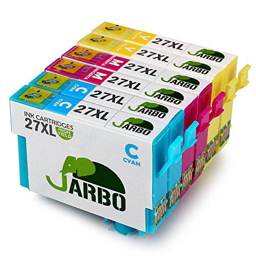JARBO Ersetzt für Epson 27XL 27 Farbe Druckerpatronen Kompatibel mit Epson WorkForce WF-3640DTWF WF-3620DWF WF-7720DTWF WF-7715DWF WF-7710DWF WF-7620DTWF WF-7610DWF WF-7210DTW WF-7110DTW