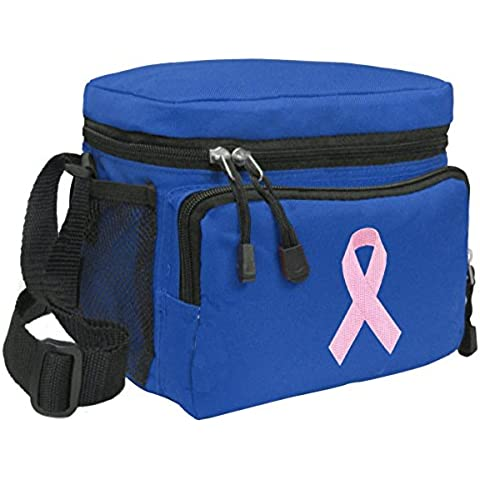 Pink Ribbon Lunch Bag Breast Cancer Awareness Lunchbox Cooler by Broad Bay