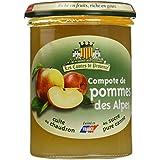 Les Comtes de Provence Compote de Pommes des Alpes 420 g - Lot de 3