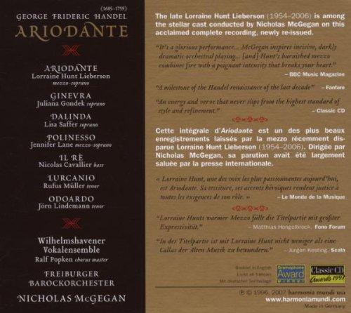 Haendel - Ariodante / Hunt · Gondek · Lane · Müller · Cavallier · Freiburger Brockorchester · McGegan