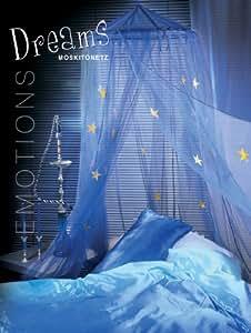 Moustiquaire ciel de lit baldaquin - dreams - avec fonction avec étoiles lumineuses