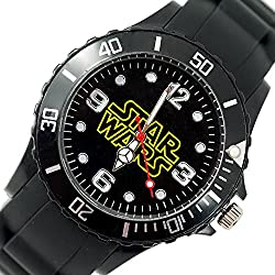 TAPORT® STAR WARS Quartz Watch Black SILICONE Band +FREE SPARE BATTERY+FREE GIFT BAG