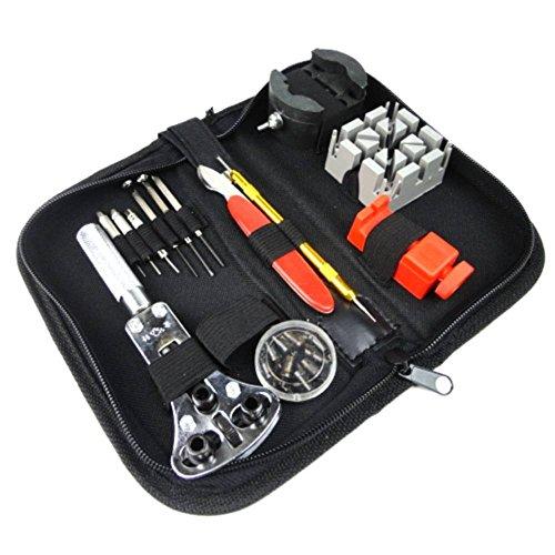 30-tlg. Uhrmacher Werkzeugset (rot) Stiftausdrücker Uhrendeckelöffner Schrauben