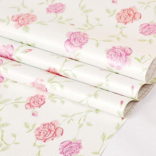 Zhzhco Verdickung Pvc Selbstklebend Papier Für Wandplakate Einfügen Geprägte Tapete Im Schlafzimmer Wohnzimmer Hintergrund Einfügen 45Cm*10M