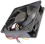 Aerzetix - Ventola di raffreddamento assiale per computer 24V 92x92x25mm 127,421m3/h 46dBA 4800rpm 5.28W 0.22A 3 cavi di collegamento 24 AWG .