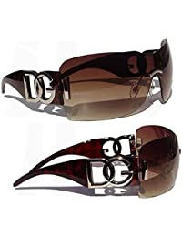 New DG Eyewear Womens Ladies Designer Sunglasses (Oversized) Vintage Brown Cool Shades Fashion Sunglasses With Free Pouch