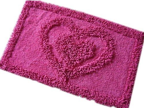 Tappeto 100% cotone 50x 80cm-1650G/m²-Vari colori Rose