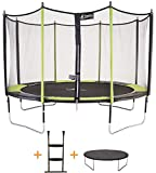 Kangui - Trampoline de Jardin 426 cm + Filet de Sécurité + échelle + bche de Protection JUMPI Pop 430