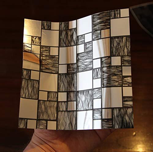 24 Cromo negro plateado PEGATINAS lisas pegar azulejos