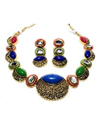 Indian Ethnic Designer Fashion High Quality Kundan, Pearl, Stone And Meenawork Gold Plated Partywear Chokar Necklace...