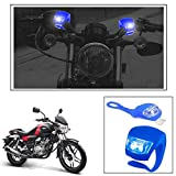 #5: Vheelocityin 2+2 Led Blue Bike Light with Flashing Mode Motorcycle LED For Bajaj V15