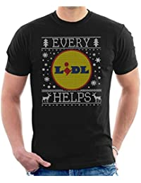 Coto7 Every Lidl Helps Christmas Knit Pattern Mens T-Shirt