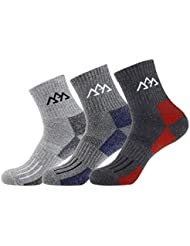 3 Pack calcetines de senderismo para hombre, Full grosor Micro tripulación para senderismo montañismo