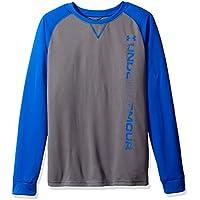 Under Armour Waffle-T-Shirt da ragazzo, colore: nero, taglia: L (taglia del produttore: YLG)