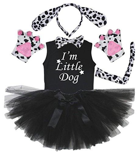 ns Dog Headband Paw Bow Tail Shirt Gauze Skirt 6pc Set (3-4 Years) (Dalmatiner-baby-kleidung)