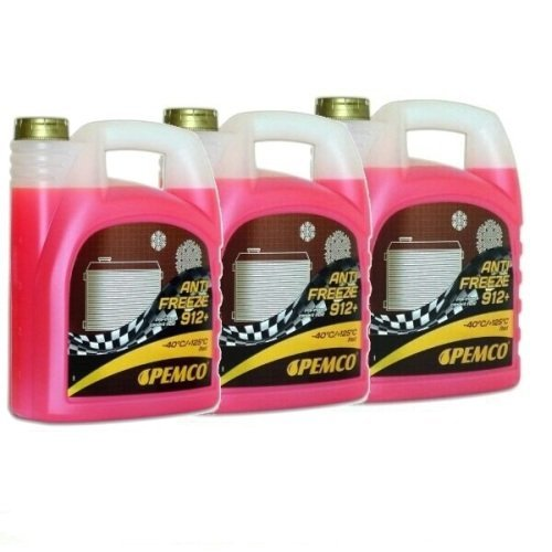 15 Liter (3x5) Kühler Frostschutz Kühlmittel Kühlflüssigkeit gemäß G12+ G12 Plus rosa rot gebrauchsfertig -40°