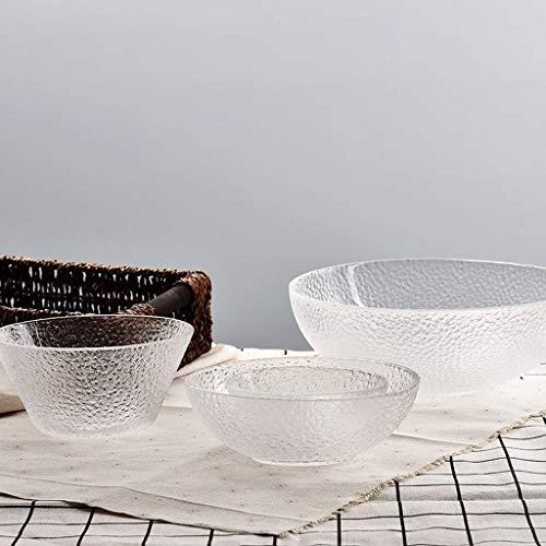 LiLin Glasschüssel 4-teiliges Set Rührschüssel Restaurant Küche Spülmaschine Desinfektionsschrank (größe : 2 Packs)