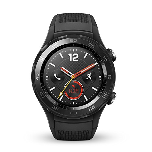 Huawei Watch 2 Sport Bluetooth + 4 G/LTE Factory Unlocked Ip68 4 Gb Smartwatch (Carbon Schwarz) - Internationale Version (Handys, Huawei 4g Unlocked)