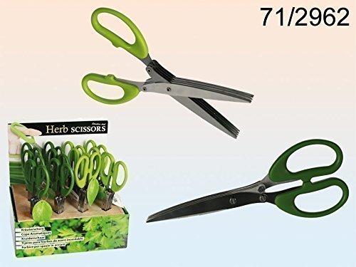 Schere Kräuterschere Küchenschere Edelstahl mit grünem Kunststoffgriff