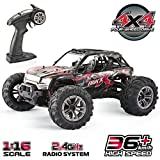 GoStock Ferngesteuertes Auto, 1:16 RC Auto Off Road 4x4 Elektro Racing Truck 36 km/h High Speed 2,4 Ghz...