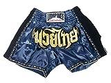 Lumpinee LUMRTO-003-bleu marine Short rétro pour boxe thaï et Kick-boxing (boxe française) XXL bleu marine