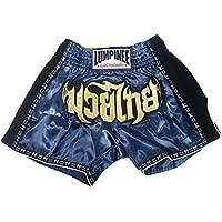 Lumpinee LUMRTO-003-bleu marine Short rétro pour boxe thaï et Kick-boxing (boxe française)