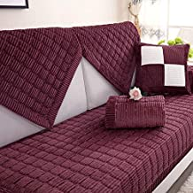 YHviking Tela Funda de sofá,Europeo Estilo Suave Slip Fundas de sofá,Asiento Cubierta