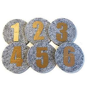 1 Zahl für die Geburtstagskrone Der Wollprinz in gold