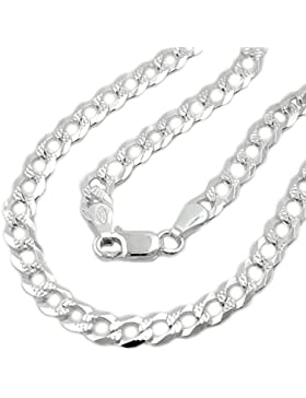4,6mm Collier Halskette Panzerkette flach Muster 925 Silber 45cm Damen