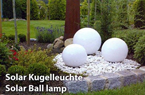 XL 15-30 cm Garten Kugel Lampe LED Solarleuchte Solarlampe Kunststoff Kugelleuchte 15-30 cm XL Durchmesser - sehr hochwertig verarbeitete Solar Gartenkugel aus wetterfestem Kunststoff