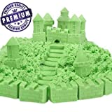 #5: Gixmo green sand Color 800 GRAMS+ 16 TOYS Kinetic Motion Magic Sand For Kids Clay Replacement