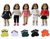ZITA ELEMENT 8 Stück Tägliche Puppensachen für 43-46cm American Babypuppen Girl Doll Puppe...