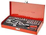 Extol 8818360 Premium Steckschlüssel, Set 45 Stück, 1/4 Zoll