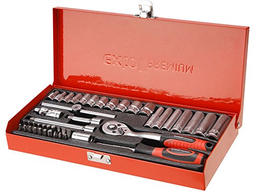 The EXTOL PREMIUM 8818360 1/4-Inch Socket Wrench Set is a bargain at just over £30. You get 45 quality pieces for a good price. The quality of the tools cannot be questioned. There is no bending or breaking of bits in this set.