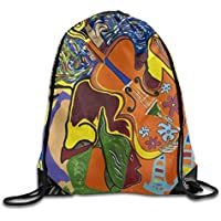 6e2ac23b8f8ca Naiyin Unisex Dreams of Jamaica Concert Print Drawstring Backpack Rucksack  Shoulder Bags Gym Bag Sport Bag