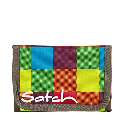 Satch rimbalzo Münzbörse SAT-WAL 001-801, 13 cm, 1 L, Nero Beach Leach 2.0 (Colorato)