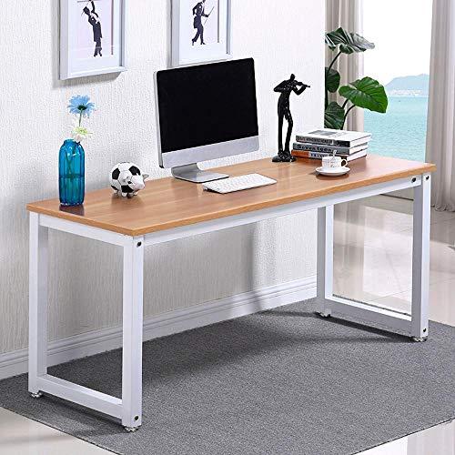 Yaheetech Scrivania PC Computer da Ufficio Moderna Tavolo da Cameretta  Tavolo da Pranzo Cucina Fiera Marrone