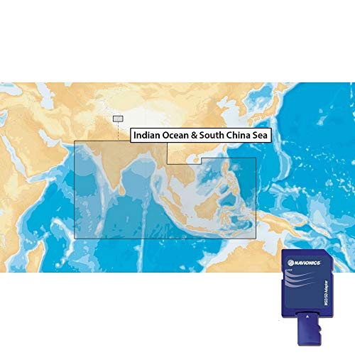 Navionics Plus 31XG Indian Ocean & South China Sea Marine & Lake Charts on SD/MSD Küsten-charts