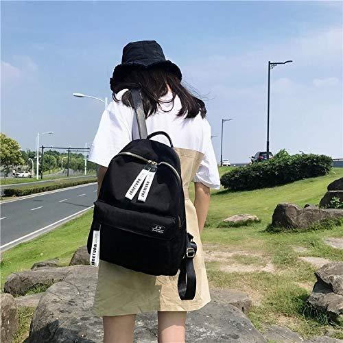 NoNo Boutique, stilvoll, schön, bequem, Lagerung Doppel Schultern Schultasche Reisetasche Backpackage Freizeittasche Sporttasche bequemer Rucksack Lager (Farbe : Black) -