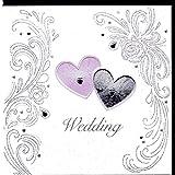 Edle Glückwunschkarte zur Hochzeit von Koko Designs mit Prägung, Folie und Kristallen KK26