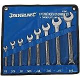Silverline 633967 Whitworth Spanner Set 8-Piece, 1/8-9/16-inch
