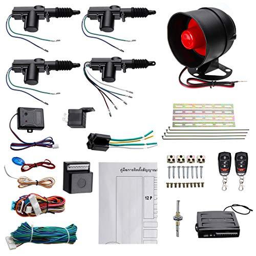 Pandiki Zentralverriegelung Fern Keyless Entry Sicherheit Auto-Warnung 4 Tür Power Lock-Alarmanlage System Security (Keyless-entry-tür-kit)
