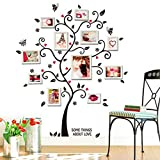 Wall Sticker,  Adesivi Murales, Carta da Pareti 'Famiglia photo frame albero' Decorazione Murali da Parete