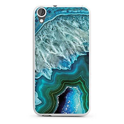DeinDesign HTC Desire 820 Silikon Hülle Case Schutzhülle Kristall Edelstein Blau