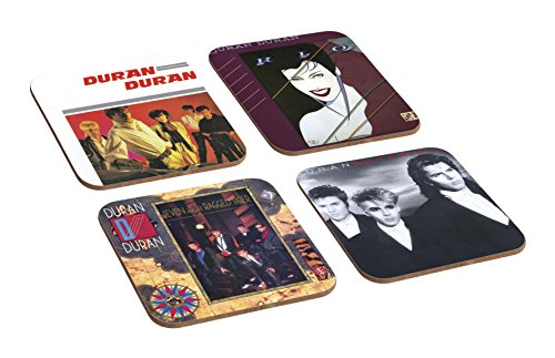 Duran Duran Album Covers 4 Piece Wooden Coaster Set