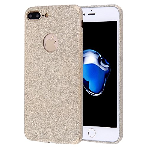 Für iPhone 7 Plus Frosted Glitter Powder TPU Schutzhülle by diebelleu ( Color : Grey ) Gold