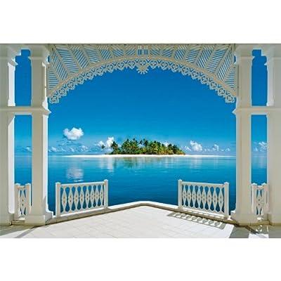 1art1 40569 Terrassen - Ein Perfekter Tag 8-teilig, Fototapete Poster-Tapete (368 x 254 cm) von 1art1 auf TapetenShop