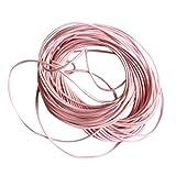 10m Cordon Cire en Nylon de 18 Couleurs Pour Bracelet Neckace Bijoux Artisanat Diy 1mm - Rose, 10m, 1mm