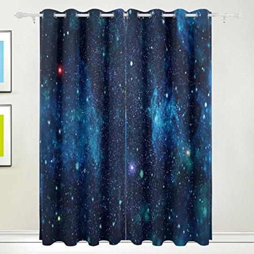 MyDaily blau Galaxy Star und Nebel Universe isoliert Blackout Tülle Fenster Vorhänge für Wohnzimmer Schlafzimmer 2Felder Behandlungen Home Decor 139,7x 213,4cm (Blackout Für Schlafzimmer Vorhänge)